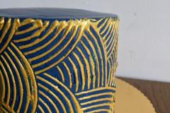 Chique-taart-met-goud-en-blauw