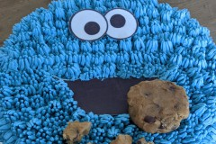 Cookie-monster-verjaardagstaart